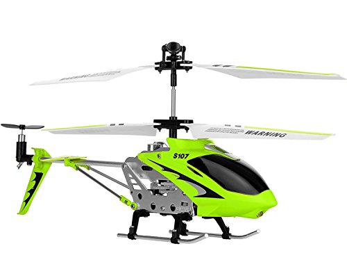 Syma 3 Channel S107/S107G Mini Indoor Co-Axial R/C Helicopter w/ Gyro (Green Color) (Best Coaxial Rc Helicopter)