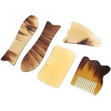 Hand Held Massage Tool Chinese Traditional Acupuncture Massage Tool Natural Buffalo Horn Gua Sha Guasha Gift Set