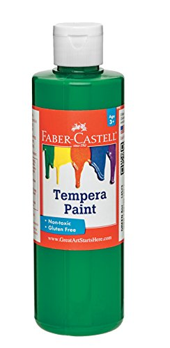 Faber Castell Tempera Paints for Kids - Washable Paint - Made in The USA - Green - 8 oz