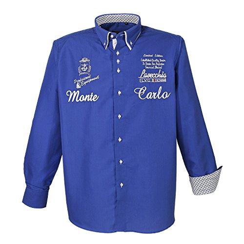 MONTE CARLO // Hemd - Blau - bis 7XL erhältlich