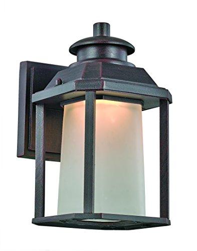 Trans Globe Lighting LED-40930 RT Southfield Outdoor Rust Mission/Craftsman Wall Lantern, 9.5
