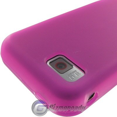 Hot Pink Silicone Cover for AT&T Samsung A867 Eternity Protector (A867 Eternity Silicone)