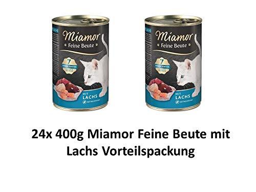 Miamor Feine Beute Lachs | 24x 400g Katzenfutter Vorteilspackung