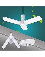 E27 LED Bulb 36W LED Ceiling Fan Shape Light 220V Foldable Fan Blade Angle Adjustable Lamp for Home Garage Lighting