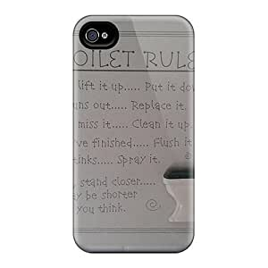 Ideal Mwaerke Case Cover For Iphone 4/4s(toilet Rules), Protective Stylish Case by lolosakes