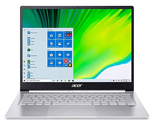 (Renewed) Acer Swift 3 13″ Full HD IPS Display Ultra Thin and Light Notebook (Intel i5 – 11th Gen/8 GB RAM/512GB SSD/Win10/Intel Iris Xe Graphics/Microsoft Office 2019/Pure Silver), SF313-53