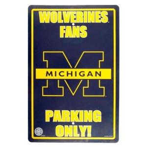 - MICHIGAN WOLVERINES Metal Parking Sign 12 x 18 embossed