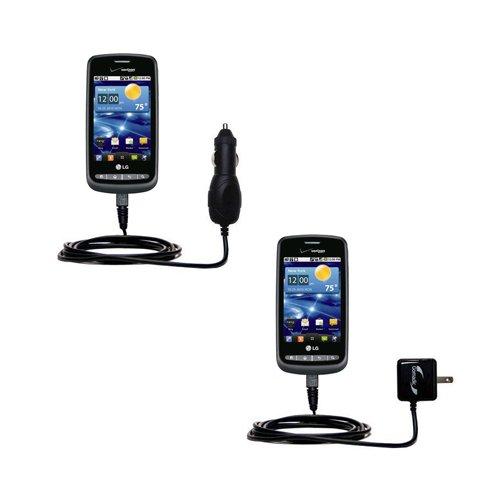 LG Vortex用エッセンシャルGomadic AC/DC充電アクセサリーバンドル キットにはゴマディックホームとカーチャージャーをお手頃価格で提供します。 TipExchangeテクノロジーに基づいています。 B004GL9HAI