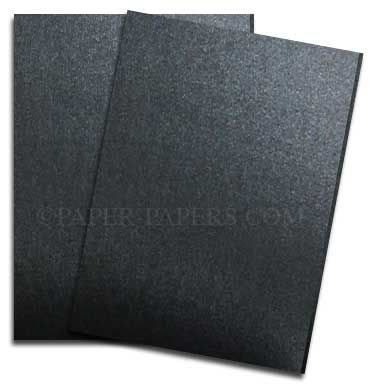 Shimmer Black Onyx 8-1/2-x-11 Lightweight Multi-use Paper 25-pk - 118 GSM (32/80lb Text) PaperPapers Letter size Everyday Paper - Professionals, Designers, Crafters and DIY Projects by Paper Papers