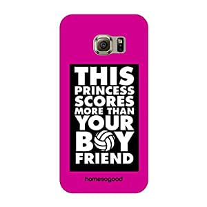 HomeSoGood This Princess Scores More Multicolor 3D Mobile Case For Samsung S6 Edge (Back Cover)