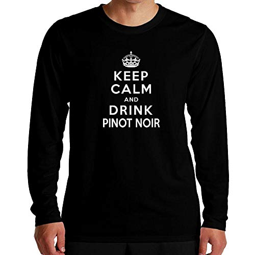 Idakoos Keep Calm and Drink Pinot Noir Long Sleeve T-Shirt L