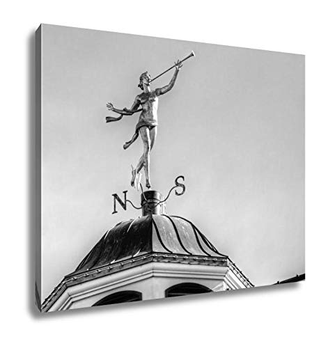 Ashley Canvas The Weather Vane, Home Office, Ready to Hang, Black/White 20x25, AG5917303