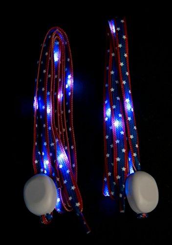 Costume Lumineux Led (LED Light Up Shoelaces Walk, Run, Bike, Safety Light / Great for burning man costume)