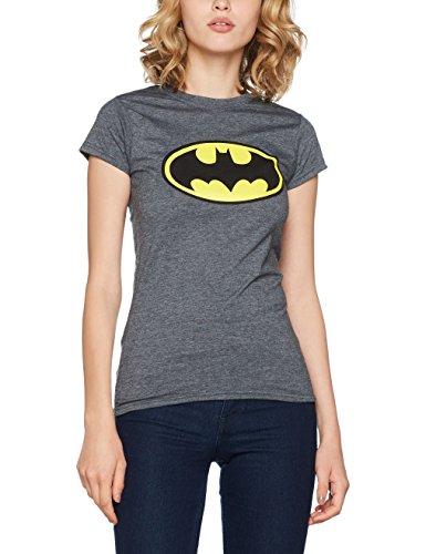 dark Donna Heather Logo Heather Batman Grey Grigio shirt Dark On T qpwa8w