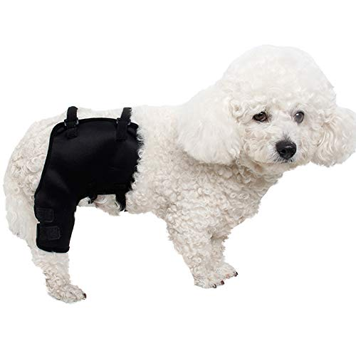 MOCOHANA Black Dog Knee Support Sleeve Dog Front Leg Brace Rear Dog Hock Support Heals Hock Joint Wrap Sleeve Protector – Pet Brace Heals and Prevent Injuries, Loss of Stability from Arthritis