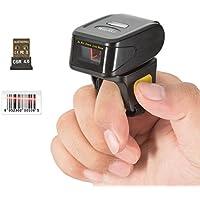 Willingo Portable Ring Barcode Scanner 1D Reader Bluetooth Scanner Wireless Finger Barcode Scanner Reader # 2601 Black