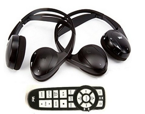 Chrysler Town and Country DVD Headphones Headsets (Set of Two) and One Remote Control 2008 2009 2010 2011 2012 2013 (Wireless High Headphones Infrared Quality)