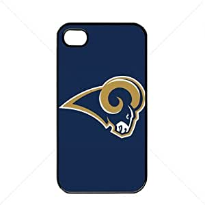 NFL American football St. Louis Rams Fans Case For Iphone 5C Cover PC Soft (Black)