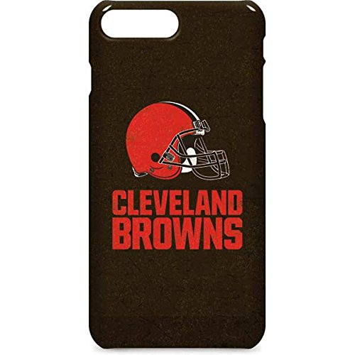 Skinit NFL Cleveland Browns iPhone 8 Plus Lite Case - Cleveland Browns Distressed Design - Ultra-Thin, Lightweight Phone Cover - Cleveland Browns Cover
