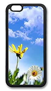 iPhone 6 Cases, Little Daisy Blus Sky Durable Soft Slim TPU Case Cover for iPhone 6 4.7 inch Screen (Does NOT fit iPhone 5 5S 5C 4 4s or iPhone 6 Plus 5.5 inch screen) - TPU Black