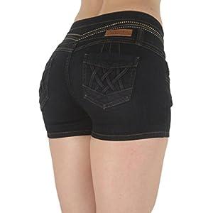 Fashion2Love G536SH-P – Plus Size, Butt Lifting, Levanta Cola, High Waist Denim Booty Shorts