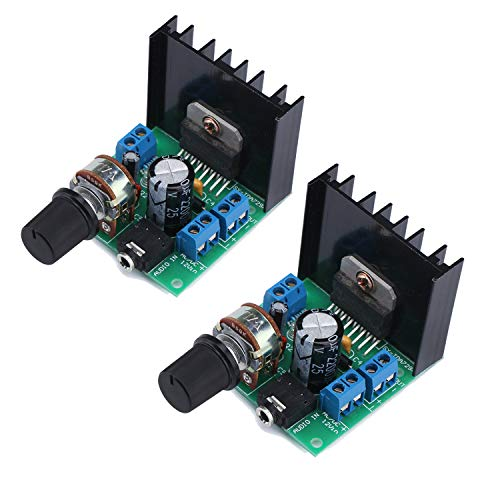 12v Ac Amplifier - 2PCS TDA7297 30W Digital Amplifier, 15W+15W Dual Channel Power Amplifi Board Audio Component Amplifier, 12V DC Mini Stereo Amp Amplify Module for Home Car Vehicle Auto Computer DIY Speaker