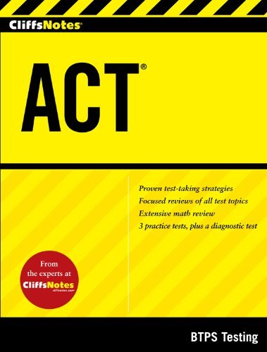 By BTPS Testing CliffsNotes ACT (1st Frist Edition) [Paperback]