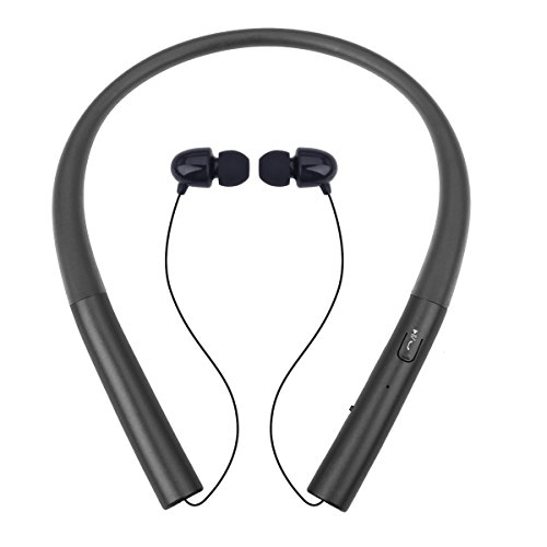 Bluetooth Headset Chof HB-905 V4.0 Wireless Neckband Headphones Stereo Music Sport Noise Cancelling Sweatproof Earphones Retractable Earbuds and Call in Vibration Reminder (905 Bluetooth)