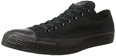 Converse Unisex Chuck Taylor All Star Low Top Black Monochrome Sneakers - 3 D(M) US
