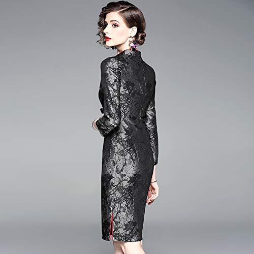 Wtug® Chino Vestido Seasons Mano Noble Cheongsam Ladies 8 Estilo Elegante Noche Bordado Shangai De Four A Antiguo Lujo rPxErqp