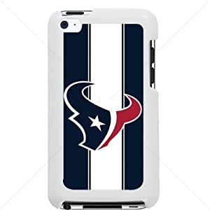 NFL American football Houston Texans Fans Apple iPod Touch iTouch 4th Generation Hard Plastic Black or White cases (White)