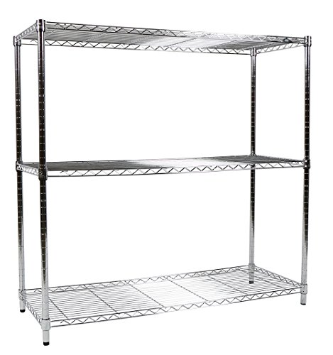 Nsf Chrome Post (Apollo Hardware Chrome 3-Shelf Wire Shelving 18