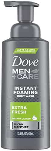 Dove Men+care Foaming Body Wash, Extra Fresh, 13.5 Ounce
