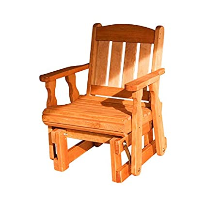 new product 453d0 b82e7 Amish Heavy Duty 600 Lb Mission Pressure Treated Glider Chair (Cedar Stain)