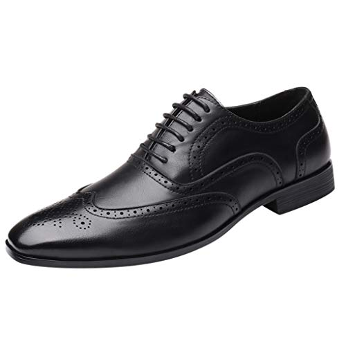 Donald Pliner Leather Harness - Answerl☀ Men's Black Dress Shoes Formal Lace Up Wingtip Oxford Shoes Classic Business Leather Modern Shoe Loafers