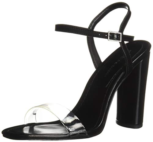 BCBG Generation Women's Ilsie Dress Sandal Pump, Black/Clear, 6.5 M - Shoes Womens Bcbg