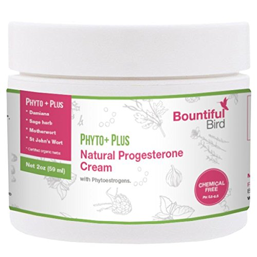 Phyto Plus Natural Progesterone Cream - with Organic Phytoestrogens, 100% Money Back Guarantee, Bioidentical Progesterone, Hormone Balance Cream, Manage PMS & Menopause Symptoms Naturally (Plus Cream Progesterone)