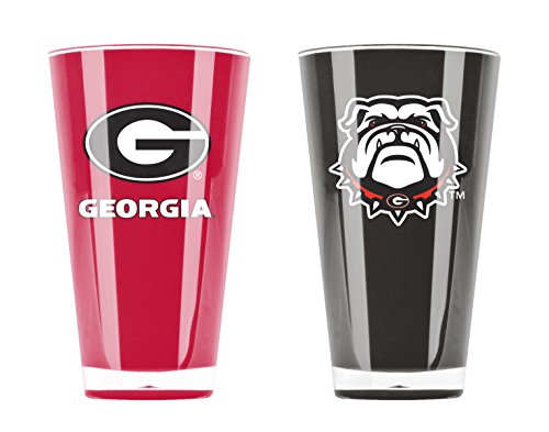 Ncaa Georgia University Bulldogs (NCAA Georgia Bulldogs 20oz Insulated Acrylic Tumbler Set of 2)