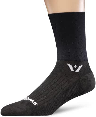 Swiftwick - Aspire FOUR, Quarter Crew Compression Socks for Trail Running and Cycling
