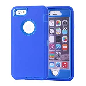 Waterproof Dustproof Shockproof Hybrid Silicone PC Combination Case for iPhone 6 Plus(Dark Blue)