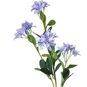 Narutosak 4 Heads Artificial Violet Silk Flowers DIY Garden Wedding Party Home Decor - Purple 119