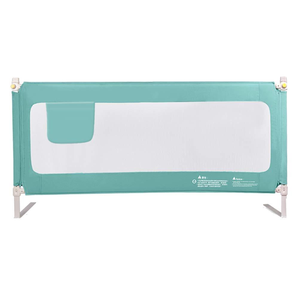 LHA ベッドガードフェンス 縦の持ち上がるベッドのガードレールの赤ん坊の塀の反落下の赤ん坊の子供のベッドのガードレールのベッド-120cm、150cm、180cm、200cm (色 : Green, サイズ さいず : L-180cm) L-180cm Green B07MNV5H18