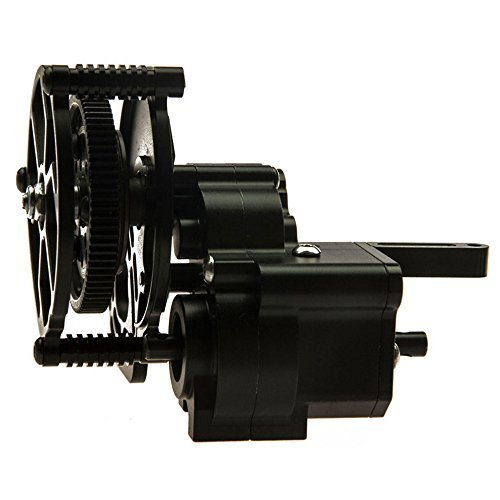 (RC-CN Fully Aluminum ALLOY Transmission Case Gear Box Steel Gears GearBox For Axial SCX10 AX10 Wraith 90018 90020 90031)