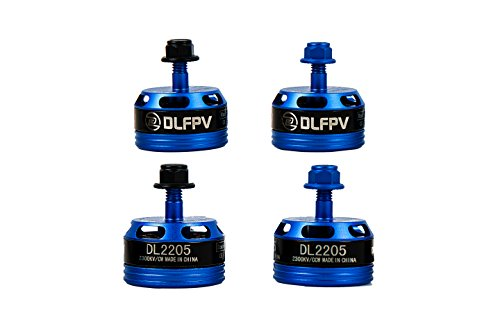 DLFPV 4pcs Cool DL2205 2300KV Brushless Motor for FPV Drone Racing Quadcopter 2CW 2CCW in Blue