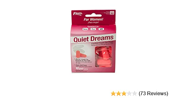 Amazon.com: New! Quiet Dreams Comfort Foam Ear Plugs - 10 Pair + Carrying Case-special Length for Sleeping on Your Side (Salmon Color): Health & Personal ...
