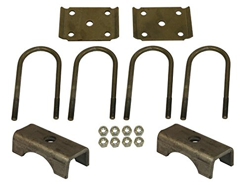 U-Bolt Mounting Kit For 6,000 lb / 7,000 lb Axles With 3 Inch Round Tube Diameter