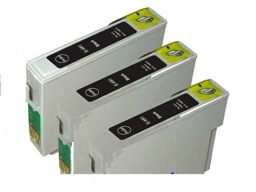 eStoreimport Compatible Ink Cartridges Replacement for Epson 124 (3x Black, 3-Pack)