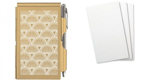Wellspring Flip Note Gold Shells Note Pad and Additional 150 Refills