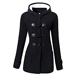 Women's Winter Fashion Outdoor Warm Wool Blended  Coat Jacket