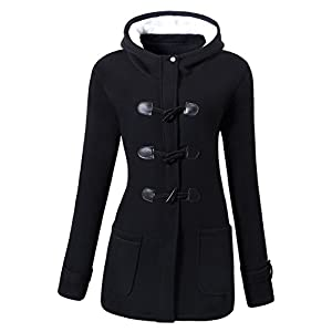 VOGRYE Womens Winter Fashion Outdoor Warm Wool Blended Classic Pea Coat Jacket (7 Days delivery or refund)